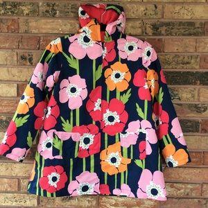 GYMBOREE Girl's L 10-12 Floral Rain Jacket Coat